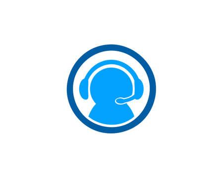 Customer Care Logo Template Design Illustration