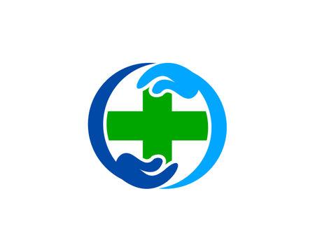 Medical health care logo design template Illustration