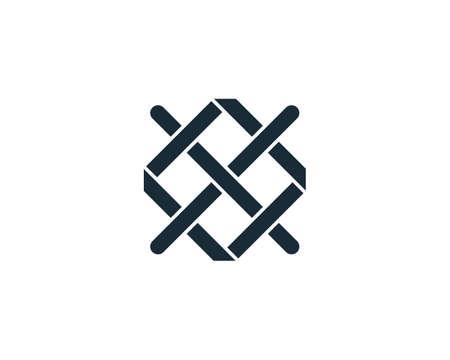 Wire Plaited Icon Vector Logo Template Illustration Design Illustration