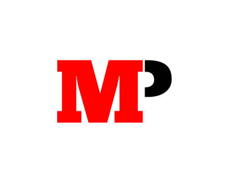 Initial Letter MP Logo Design Vector