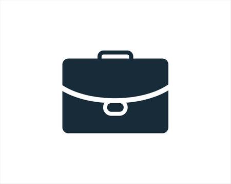 Suitcase Bag Icon Vector Logo Template Illustration Design