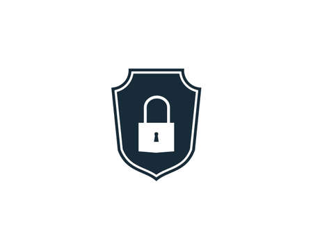 Padlock Shield Icon Vector Logo Template Illustration Design Illustration