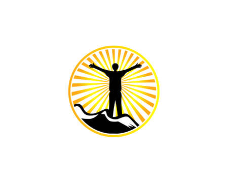 Victorious Leadership Logo Design Vector Template, Freedom People Logo Illustration
