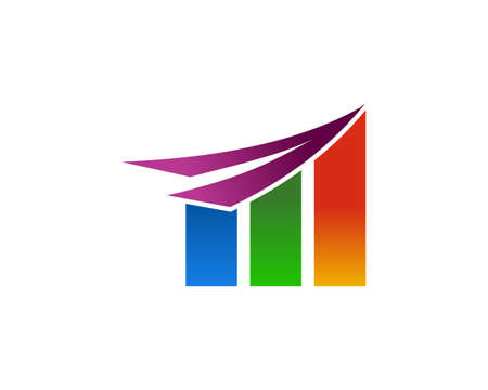 Growth Stats Up Business Logo Design
