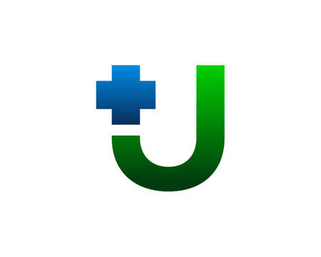 Initial Letter U Cross Plus Logo, Medical Health Care Logo Template Design