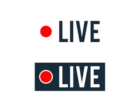 Live Streaming Icon Vector Logo Template Illustration Design