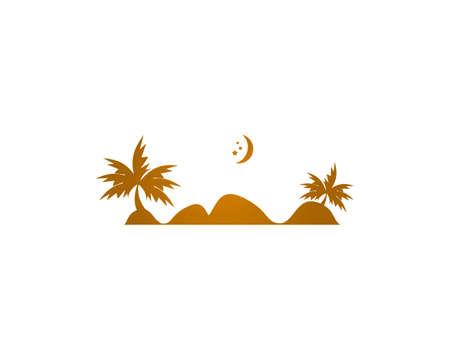 Desert logo design illustration vector template Illustration