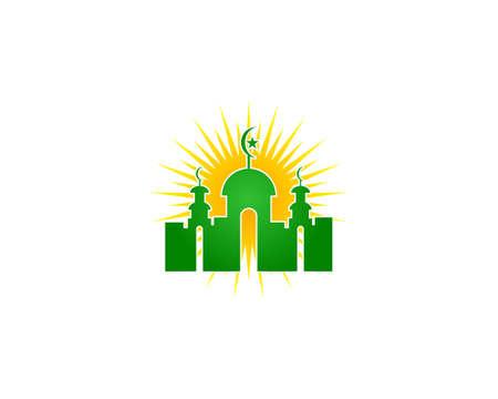 Mosque Logo Template Design Vector