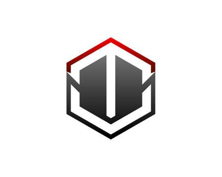 Initial Letter TV Logo Template Design Illustration