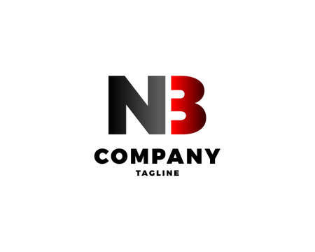 Initial Letter NB Logo Design Template
