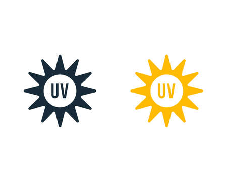 Ultraviolet Sunburn Solar Icon Vector Logo Template Illustration Design Vettoriali