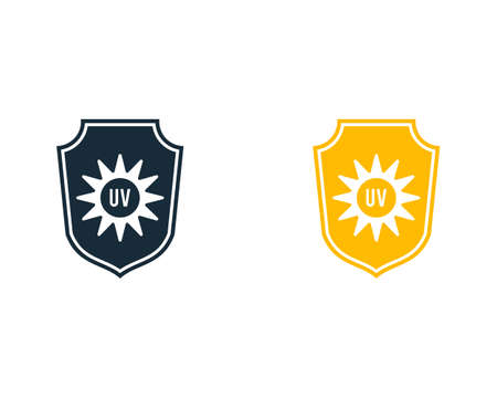 UV Light Shield Icon Vector Logo Template Illustration Design
