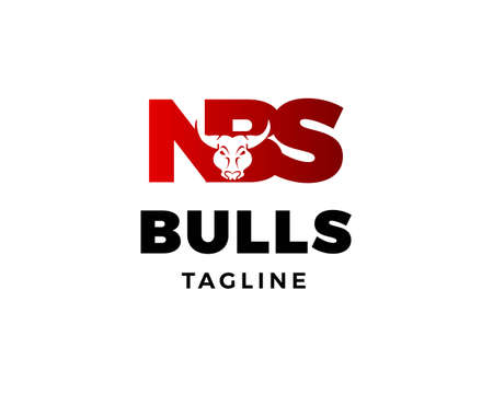 Initial Letter NBS with Bulls Design Logo Vector Graphic Branding Letter Element Vettoriali