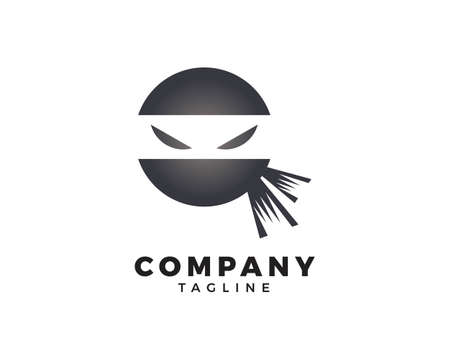 Ninja Warrior Logo Design Vector Template