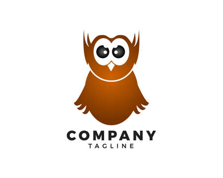Owl logo vector icon illustration