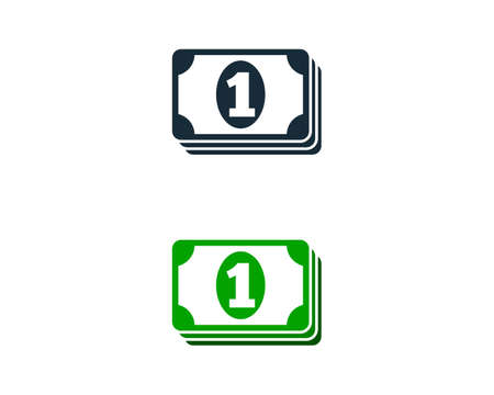 Money Icon Design Template Elements