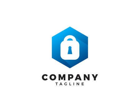 Padlock Icon Vector Logo Design Template
