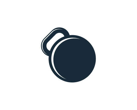 Kettlebell Fitness Icon Design Template Elements
