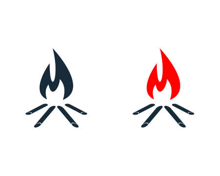 Campfire Icon Design Template Elements