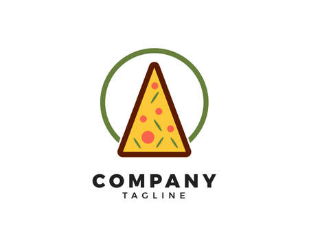Pizza Logo Template, Fast Food Vector Design, Italian Pizza Restaurant Design Logo