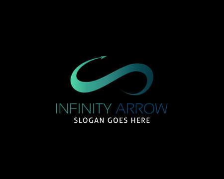 Arrow infinity business vector logo design Illusztráció