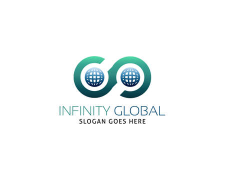 Infinity global logo vector template Illusztráció