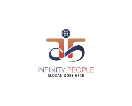 Infinity people logo vector template