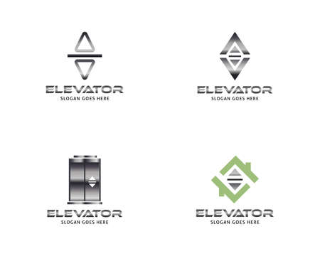Set of Lift or elevator logo vector template