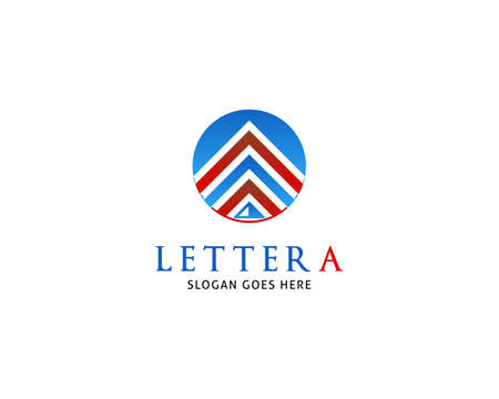 Initial Letter A Logo Template Design Illusztráció