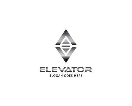 Lift or elevator logo vector template Illusztráció
