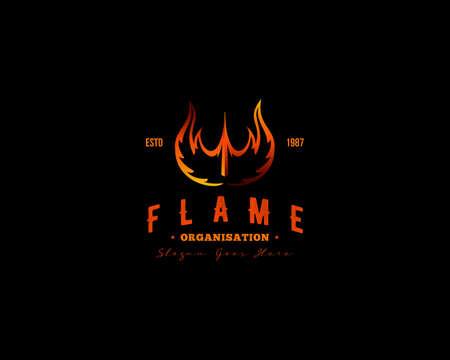 Fire Flame Logo Design Vector Template Illusztráció