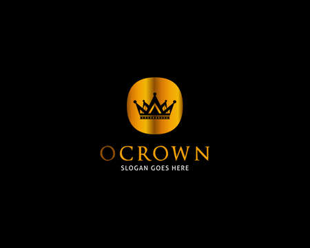 Initial Letter O Crown Logo Template Vector Icon Illustration Design