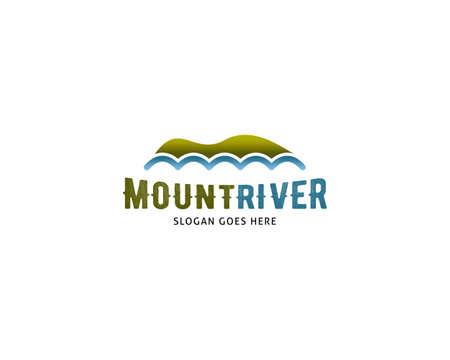 Mountain River Logo Design Template