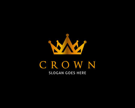 Crown Logo Template Vector Icon Illustration Design Illusztráció
