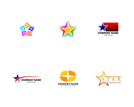 Set of Star Logo Vector Template Design Illustration