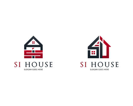Set of Letter SI with House Logo