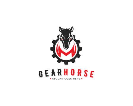 Horse Gear Vector Icon Illustration