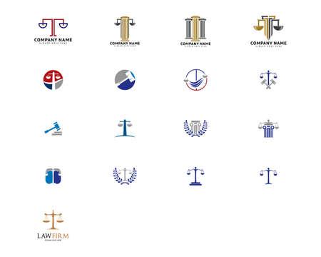 Set of Law Firm Logo Vector Template Design Illusztráció