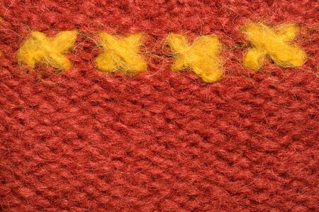 woolen cloth: Four yellow crosses on red woolen cloth