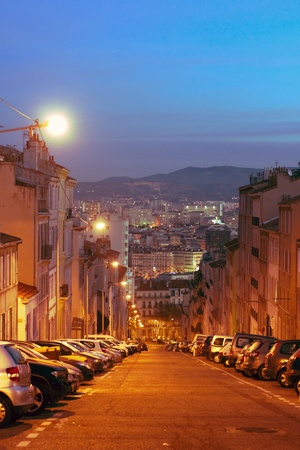 Sunrise in Marseille, France photo