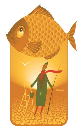 sea horizon: fisherman
