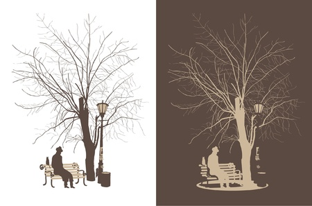 탁상: 나무 아래 사람