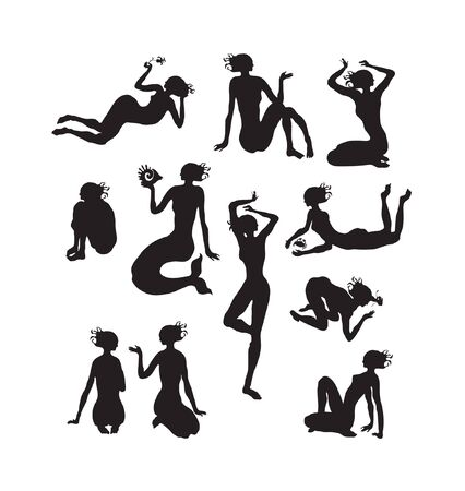 silhouettes of women  Illustration