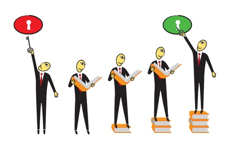 coaching: connaissance Illustration