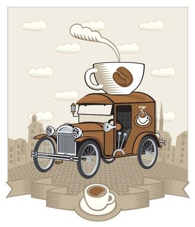 coffee car  Vector
