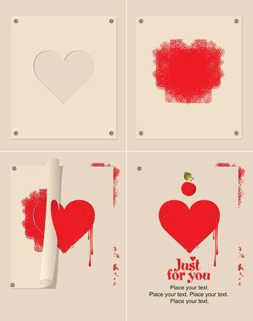 set of hearts Stock Vector - 11650922