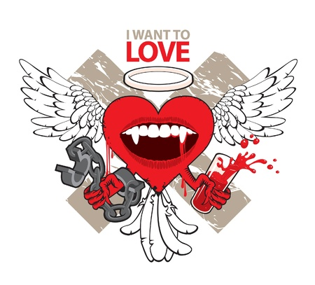 I want to love Stock Vector - 11650883