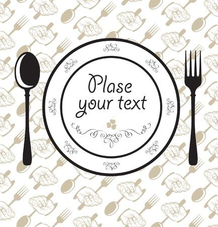 fork spoon plate napkin