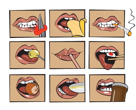 mouth eats  Vector