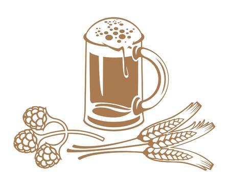 wheat malt beer Stock Vector - 11650865